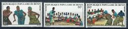 Benin, Agbadja Dance, 1980, MNH VF  Complete Set Of 3 - Benin - Dahomey (1960-...)