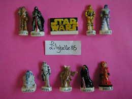 Série Complète De 10 Fèves En Porcelaine - TRILOGIE STAR WARS III 2006 ( Feve Miniature ) - Characters