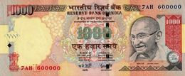 INDIA 1000 RUPEES 2006 P-100a UNC PLATE LETTER L. SIGN. REDDY [IN285b2] - India