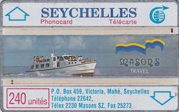 Seychelles, SEY-11, 240 Units, Mason's Travel, Ship, 011E - Seychelles