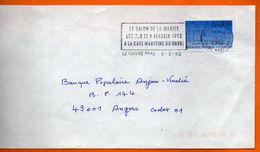76 LE HAVRE  SALON DE LA MARIEE     1992 Lettre Entière 110x220 N° JJ 747 - Postmark Collection (Covers)