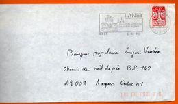 28 ANET  SON CHATEAU    1992 Lettre Entière 110x220 N° JJ 749 - Mechanische Stempels (reclame)