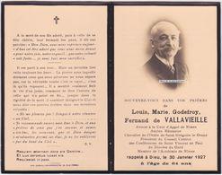 Faire-part Photo FERNAND DE VALLAVIEILLE. NIMES. Avocat, Saint Vincent De Paul. Memento, Souvenir. - Décès