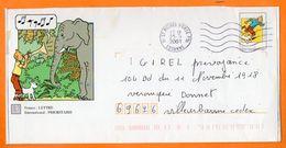91 ST MICHEL SUR ORGE  TINTIN 2001 Entier Postal N° JJ 762 - PAP:  Varia (1995-...)