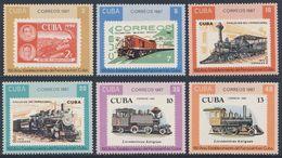 Cuba 1987 Mi 3142 /7 A YT 2810 /5 ** 150th Ann. Cuban Railway - Stamps / 150 Jahre Eisenbahn In Kuba - Cuba
