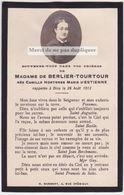 Faire-part Photo CAMILLE DE BERLIER TOURTOUR / D'ESTIENNE. MARSEILLE. Memento, Souvenir. - Décès