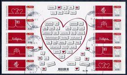DENMARK 2011 Greeting Stamps Sheetlet, Used.  Michel 1664-68 - Blocks & Sheetlets