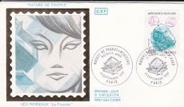 """ENVELOPPE 1ER JOUR--nature De France--LES MINERAUX """" La Fluorite """"--75----PARIS---13 Septembre 1986 - 1980-1989"""