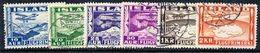 ICELAND 1934 Airmail Set Of Six, Used.  Michel 175-180 - Airmail