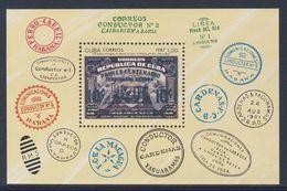 Cuba 1987 Mi B103 (=Mi 3148)  YT B102 ** 150th Ann. Cuban Railway - Stamps / 150 Jahre Eisenbahn In Kuba - Ongebruikt