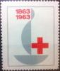 FRANCE VIGNETTE CROIX ROUGE RED CROSS ROTES KREUZ 100 ANS 1863 - 1963 RARE ! - Commemorative Labels