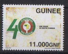 Guinée Guinea 2015 Emission Commune Joint Issue CEDEAO ECOWAS 40 Ans 40 Years - Gemeinschaftsausgaben