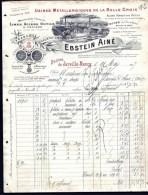 FACTURE OU LETTRE ANCIENNE DE JARVILLE- 1907- LIMES- ACIERS- OUTILS- MEULES- BELLE ILLUSTRATION- 2 SCANS- - France