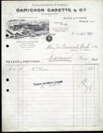 FACTURE OU LETTRE ANCIENNE DE PARIS- 1924- PRODUITS CHIMIQUES- MINIUM- MASTIC- BELLE ILLUSTRATION- 2 SCANS- - France