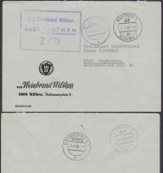 Wilthen VEB Weinbrand ZKD-Brief Germany East , GDR, Zweispachiger Stempel Butzen Budysin - [6] República Democrática