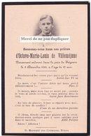 Faire-part Photo OCTAVE DE VILLEMEJANE. NIMES. Memento, Souvenir. - Décès