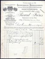 FACTURE OU LETTRE DU XIX°S. DE PARIS- 1894- SERRURERIE-FERRONNERIE- CUIVRERIE- GRAND EN TETE- 2 SCANS- - France
