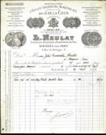 FACTURE OU LETTRE DU XIX° S. DE ASNIERES- 1897- HUILES ET GRAISSES INDUSTRIELLES- BELLE ILLUSTRATION- 2 SCANS- - France