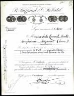 FACTURE OU LETTRE DU XIX° S. DE LYON- 1893- MECANIQUE- FOURNISSEUR MINISTERE DE LA GUERRE- BELLE ILLUSTRATION- 2 SCANS- - France