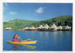Polynésie--BALI HAI  RAIATEA --Promenade Sur Le Lagon Devant Les Bungalows Sur Piloti (animée,canoé ) - Polynésie Française