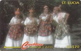 Saint Lucia, STL-121A, Women In National Dress, 121CSLA, 2 Scans.  Please Read - Saint Lucia