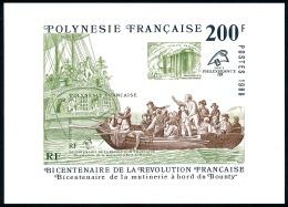 POLYNESIE 1989 - Yv. BF 15 ** SUP à 16% De La Cote  Cote= 17,00 EUR - Révolution Française. Bounty  ..Réf.POL23329 - Blocs-feuillets