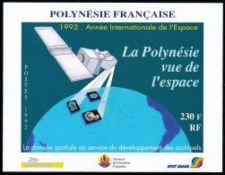 POLYNESIE 1992 - Yv. BF 19 ** SUP  Faciale= 1,93 EUR - La Polynésie Vue De L'espace  ..Réf.POL23337 - Blocs-feuillets