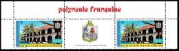 POLYNESIE 1987 - Yv. PA 196A = PA 196 En Tryptique ** TB  Cote= 37,00 EUR - Caserne Brache  ..Réf.POL23342 - Poste Aérienne
