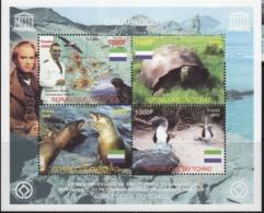 Tchad 2005 Prehistory Prehistoire Charles DARWIN Tortue Phoque Bird Oiseau - Vor- Und Frühgeschichte