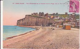 CPA - 27. CRIEL PLAGE -  Vue D'ensemble De La Falaise Et De La Plage Côté De Ménival - Criel Sur Mer