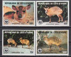 Ivory Coast - ANIMALS / WWF 1985 MNH - Ivory Coast (1960-...)