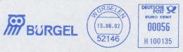 Freistempel 0235 Bürgel Eule - Poststempel - Freistempel