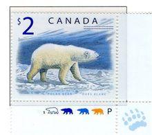 PIA - CANADA - 1998 : Uso Corrente - Orso Bianco   - (Yv 1617) - Nuovi