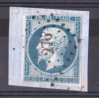 France - Napoléon III N° 14A Sur Fragment - PC 276 Bassoues D'Armagnac (Gers) - Marcophilie (Timbres Détachés)