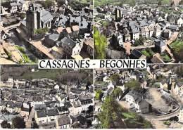 12 - CASSAGNES BEGONNES : Vue Aérienne / Jolie Multivues - CPSM Dentelée Colorisée Grand Format - Aveyron - France