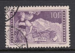 Switzerland 1914 Used Scott #184 10fr The Jungfrau, Dull Violet - Usados