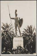 Statue Of Achilles, Kaiser's Palace, Corfu, Greece, C.1910 - Agfa RP Postcard - Greece
