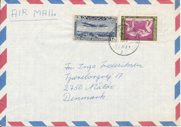 Afghanistan Air Mail Cover Sent To Denmark 13-7-1971 With Topic Stamps - Afghanistan