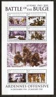 Dominica, WW II  Battle Of The Bulge, Block Issue MNH Ardennes Offensive Battle Scenes In Snowy Woods - Guerre Mondiale (Seconde)