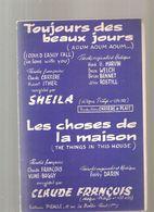 Partitions Editions Pigalle De 1964 Toujours Des Beaux Jours Engegistré Par SHEILA - Partitions Musicales Anciennes