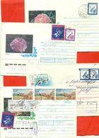 Kazakhstan.Four Envelopes Past The Mail.Two Envelopes Registered. - Kazakhstan
