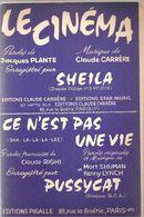 Partitions Editions Pigalle De 1966 Le Cinéma Engegistré Par SHEILA - Partitions Musicales Anciennes