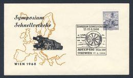 Austria Österreich 1968 Cover / Brief / Lettre - Symposium Schnellverkehr, AICCF-UIC - Wien - Treinen