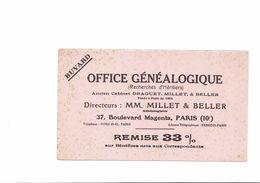 BUVARD   OFFICE GENEALOGIQUE   MM MILLET  ET BELLER - Buvards, Protège-cahiers Illustrés