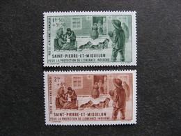 Saint Pierre Et Miquelon: TB Paire PA N°1 Et 2, Neufs X. - Poste Aérienne