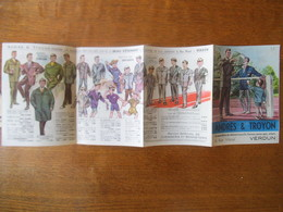 VERDUN ANDRES & TROYON LE SPECIALISTE DU VÊTEMENT 6 RUE MAZEL DEPLIANT PUBLICITAIRE - Advertising