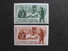 A). Saint Pierre Et Miquelon: TB Paire PA N°1 Et 2, Neufs X. - Poste Aérienne