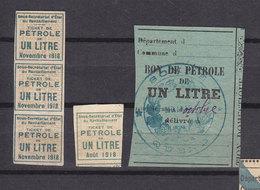 FRANCE LOT COUPONS DE RATIONNEMENT PETROLE ESSENCE DONT QUEND SOMME - Documents Historiques