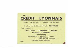 BUVARD   AU CREDIT LYONNAIS - Blotters