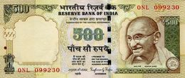 INDIA 500 RUPEES 2015 P-106d UNC SIGN. RAJAN. PLATE LETTER R [IN296a] - India